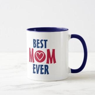 Meilleure tasse rouge et bleue de maman jamais