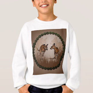 Meilleurs amis, kangourous mignons avec des sweatshirt