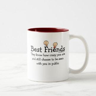 Meilleurs amis tasse 2 couleurs