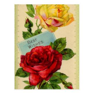 Meilleurs voeux carte postale vintage