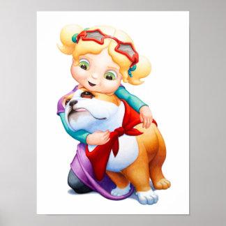 Meisje met de Druk van het Kinderdagverblijf van d Poster