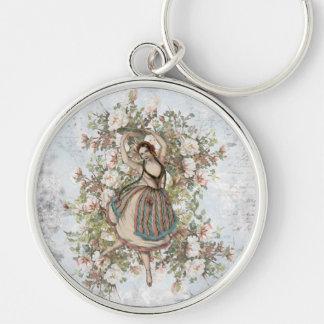 Mélange floral gitan et match de danse vintage porte-clés