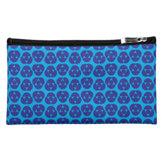 Mélange unique de point de polka d'indigo pochette simili daim