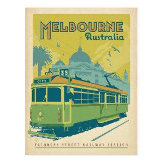 Melbourne, Australie - chariot Carte Postale