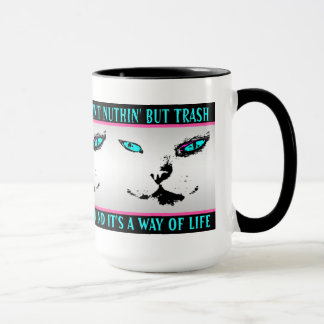 Melvin le chat - citation de jazz - tasse de café