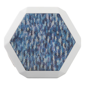 Menigten van Blauwe Spreker Witte Bluetooth Speaker