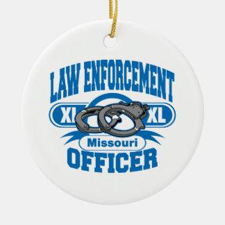 Menottes d'officier de police du Missouri Ornement Rond En Céramique