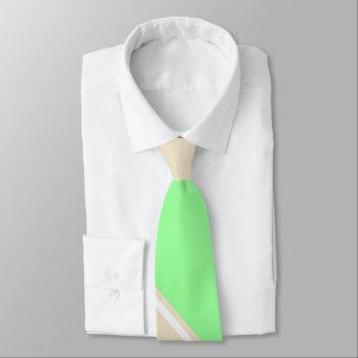 Menthe et cravate II Diagonal-Rayée Thé-Colorée