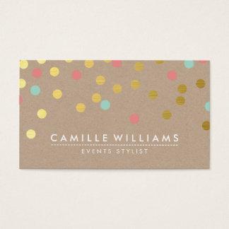 Menthe mignonne moderne papier d'emballage de cartes de visite