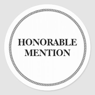 MENTION HONORABLE STICKER ROND