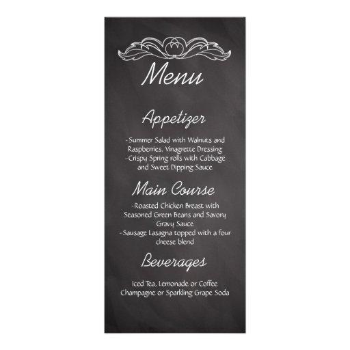 menu de mariage de tableau d 39 ardoise double cartes customis es zazzle. Black Bedroom Furniture Sets. Home Design Ideas