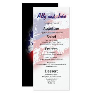 Menu de réception affligé par résumé de drapeau carton d'invitation  10,16 cm x 23,49 cm