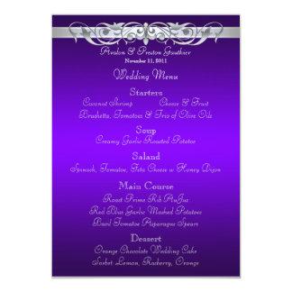 Menu pourpre de mariage de Grande -Duchesse Carton D'invitation 12,7 Cm X 17,78 Cm