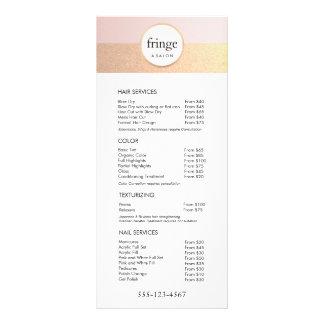 Menu rose à la mode de service de listes des prix