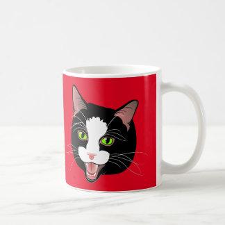 MEOW de CAFÉ de conversation de chat ! par Mug Blanc
