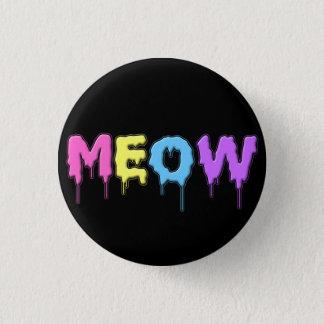 Meow de pastel de Kawaii Badge Rond 2,50 Cm