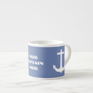 Mer/capitaine nautique Espresso Mug d'ancre de