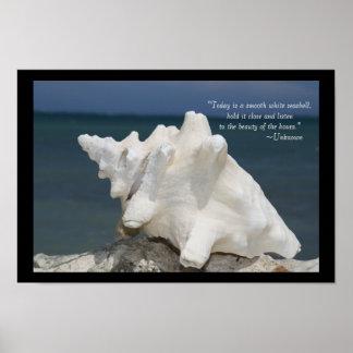 Mer Shell de plage inspiré Poster