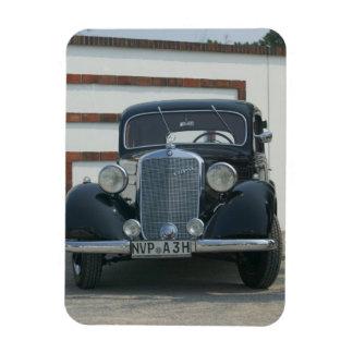 Mercedes antique magnet en rectangle