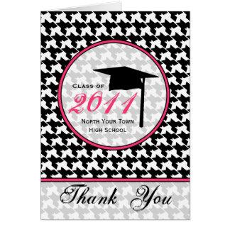 Merci 2011 d'obtention du diplôme de carte de vœux