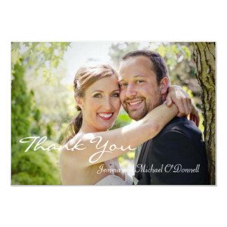 Merci 3,5 x de photos de mariage carte 5 carton d'invitation 8,89 cm x 12,70 cm