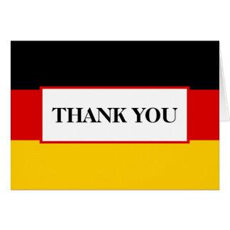 Merci allemand de mariage de drapeau carte