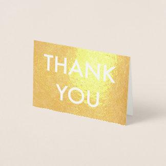 merci carte d'aluminium argenté de feuille d'or