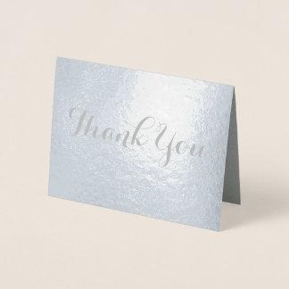 Merci chic de police de Galligraphy Carte Dorée