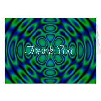 Merci d'Abstact Carte De Vœux