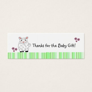 Merci d'agneau de bébé mini carte de visite