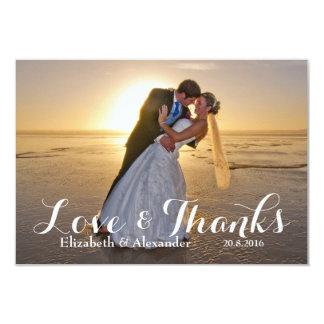 Merci d'amour de photo de mariage carton d'invitation 8,89 cm x 12,70 cm