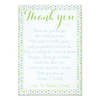 Merci de baby shower de carte de bébé carton d'invitation 8,89 cm x 12,70 cm