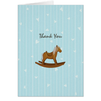 Merci de baby shower de cheval de basculage carte