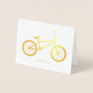 Merci de bicyclette carte dorée