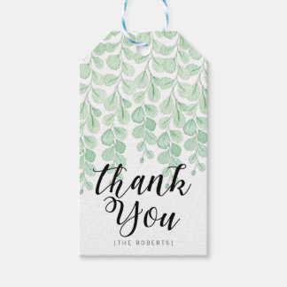 Merci de l'aquarelle | de vigne de jardin étiquettes-cadeau