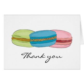 Merci de Macarons de Français (macarons) Carte De Vœux