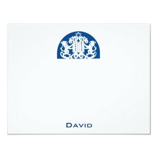 Merci de Mitzvah de barre de lions de marine Carton D'invitation 10,79 Cm X 13,97 Cm