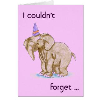 Merci de partie d'anniversaire de enfant/mercis carte de vœux