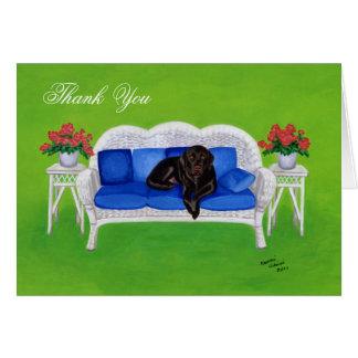 Merci de peinture de Labrador de chocolat Carte De Vœux