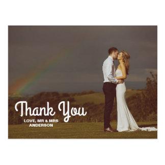 Merci de photo de couples de mariage de cartes postales