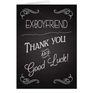 Merci de tableau et bonne chance au l'Ex-Ami Carte De Vœux
