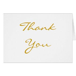 Merci d'or carte de vœux