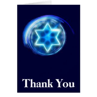 Merci encerclé par étoile carte de correspondance
