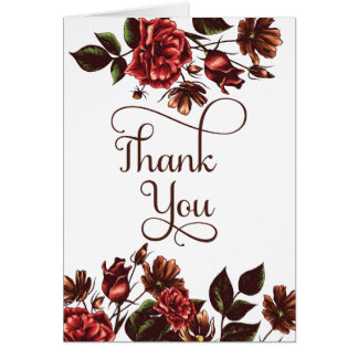 Merci floral d'automne et d'automne carte