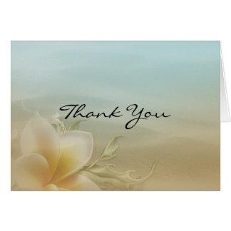 Merci floral de plage carte de correspondance