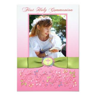 Merci IMPRIMÉ de photo de sainte communion de Carton D'invitation 12,7 Cm X 17,78 Cm