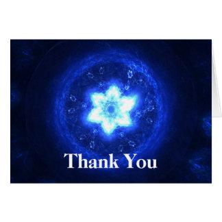 Merci lumineux d'étoile carte de correspondance