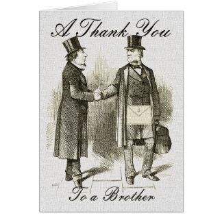 Merci maçonnique carte de vœux