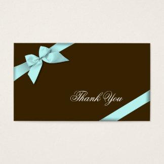 Merci Minicard de ruban d'Aqua Cartes De Visite