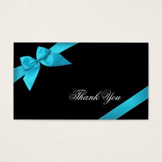 Merci Minicard de ruban de turquoise Cartes De Visite